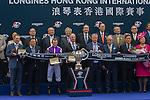 DEC 13,2015: Highland Reel ,ridden by Ryan Moore,wins the Hong Kong Vase at Sha Tin in New Territories,Hong Kong. Kazushi Ishida/ESW/CSM
