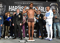 """ONTARIO - DECEMBER 20:  Jermell Charlo at  the weigh in for the December 21 fight on the Fox Sports PBC """"Harrison v Charlo"""" on December 20, 2019 in Ontario, California. (Photo by Frank Micelotta/Fox Sports/PictureGroup)"""