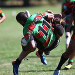 Hoani Takao is tackled.Tasman Rugby League Richmond Rabbits v Tahunanui Tigers , Saturday 22 March 2014,  , Nelson, New Zealand Photo:Evan Barnes / Shuttersport.