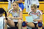 06.11.2010, Nippon Gaishi Hall, Nagoya, JPN, Volleyball Weltmeisterschaft Frauen 2010,  Deutschland ( GER ) vs. Italien ( ITA ), im Bild Margareta Kozuch (#14 GER), Kathleen Weiss (#2 GER) nach der Niederlage. Foto © nph / Kurth
