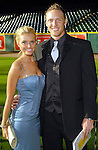 Heidi Mueller and Hunter Pence at the Astros Wives Gala at Minute Maid Park Thursday Aug. 06, 2009.(Dave Rossman/For the Chronicle)