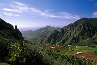 Spanien, Kanarische Inseln, Teneriffa, Anagagebirge bei Taganana