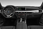 Stock photo of straight dashboard view of a 2018 BMW X5 xDrive35d 5 Door SUV