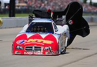 May 21, 2011; Topeka, KS, USA: NHRA funny car driver Johnny Gray during the Summer Nationals at Heartland Park Topeka. Mandatory Credit: Mark J. Rebilas-