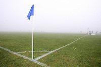 A corner flag is seen in fog before an East London Sunday League match at Hackney Marshes - 23/12/07 - MANDATORY CREDIT: Gavin Ellis/TGSPHOTO - Self billing applies where appropriate - Tel: 0845 094 6026