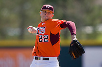 Starting pitcher Jesse Hahn #22 of the Virginia Tech Hokies in action against the Wake Forest Demon Deacons at English Field March 27, 2010, in Blacksburg, Virginia.  Photo by Brian Westerholt / Four Seam Images