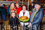 Rebecca, Abilgail, Amelia and Marion Walsh from Castleisland sampling some of Kathleen O'Sullivan's cooked ham in Garveys Supervalu Castleisland's Food Fair on Tuesday.