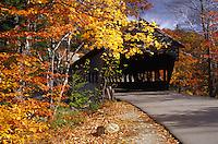 Covered bridge in autumn.
