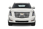 Car photography straight front view of a 2017 Cadillac Escalade Platinum 5 Door SUV Front View