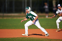Farmingdale State Rams Joseph Roche (3) leads off second base during the second game of a doubleheader against the FDU-Florham Devils on March 15, 2017 at Lake Myrtle Park in Auburndale, Florida.  FDU-Florham defeated Farmingdale 8-4.  (Mike Janes/Four Seam Images)