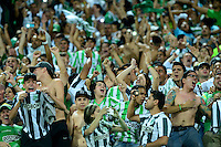 MEDELLÍN -COLOMBIA-13-12-2015: Hinchas de Atlético Nacional animan a su equipo durante partido de vuelta entre Atletico Nacional e Independiente Medellin por las semifinales de la Liga Aguila II 2015, jugado en el estadio Atanasio Girardot de la ciudad de Medellin. / Fans of Atletico Nacional cheer for their team during a match for the second leg between Atletico Nacional and Independiente Medellin  for the semifinals of the Liga Aguila II 2015 at the Atanasio Girardot stadium in Medellin city. Photo: VizzorImage/León Monsalve/ Str