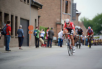 Vegard Breen (NOR/Lotto-Belisol) trying to forge a break<br /> <br /> stage 1<br /> Euro Metropole Tour 2014 (former Franco-Belge)