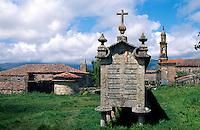 Spanien, Galicien, Carnota, großer Hórreo (Speicher)