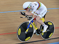 CALI – COLOMBIA – 14-01-2015: Thomas Bouchard, de Francia, campeon del mundo, durante entrenamiento en el Velodromo Alcides Nieto Patiño, sede de la III Copa Mundo UCI de Pista de Cali 2014-2015  / Thomas Bouchard, of Francia, champion of the world, during a training at the Alcides Nieto Patiño Velodrome, home of the III Cali Track World Cup 2014-2015 UCI. Photos: VizzorImage / Luis Ramirez / Staff.