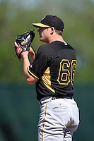 Pittsburgh Pirates pitcher Tyler Waldron  (66) during a minor league spring training intrasquad game on March 30, 2014 at Pirate City in Bradenton, Florida.  (Mike Janes/Four Seam Images)