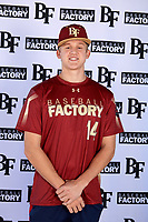 Luke Haas (14) of Glenda Dawson High School in Pearland, Texas during the Baseball Factory All-America Pre-Season Tournament, powered by Under Armour, on January 12, 2018 at Sloan Park Complex in Mesa, Arizona.  (Mike Janes/Four Seam Images)