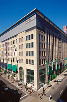 1999 File Photo, Montreal, Quebec, Canada<br /> <br /> Carrefour Industrielle Alliance  building (and<br /> Simons stor)e on Ste Catherine street in downtown Montreal, in a file photo, circa 1999<br /> <br /> Mandatory Credit: Photo by Pierre Roussel- Images Distribution. (©) Copyright 2002 by Pierre Roussel <br /> <br /> NOTE : <br /> scan from 35mm  slide, 4X5 slide also available