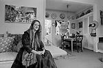 Cressida Bell, designer at home 1991, London Uk.