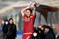 Elena Linari of AS Roma during the Women Italy cup round of 8 second leg match between AS Roma and Florentia S.G. at stadio delle tre fontane, Roma, February 14, 2021. Photo Andrea Staccioli / Insidefoto