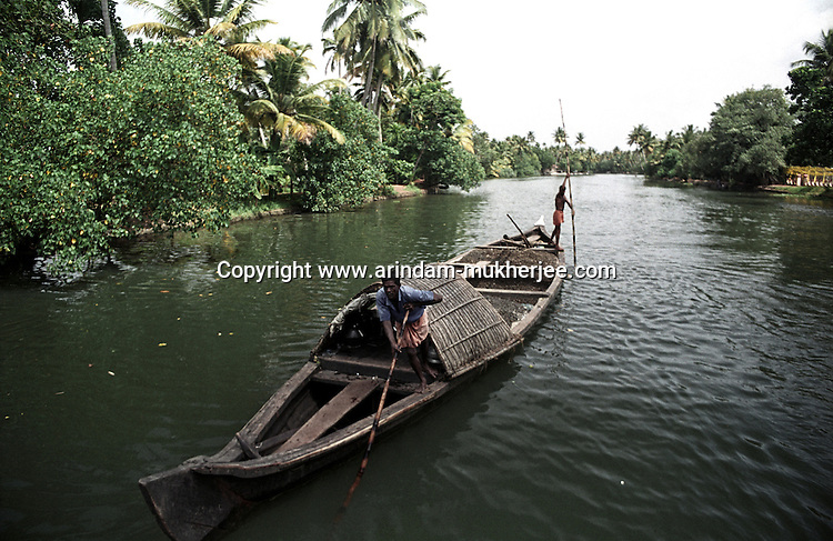 A boat at the backwaters of Alleppey, Kerala, india