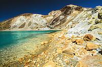 Volcanic Emerald Lakes on Tongariro Crossing Track, Tongariro National Park, Central Plateau, New Zealand