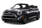 2016 MINI MINI Cooper-S-Fwd 2 Door Convertible Angular Front stock photos of front three quarter view