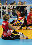Toronto, Ontario, August 9, 2015. Canada vs USA sitting Volleyball 2015 Parapan Am Games . Photo Scott Grant/Canadian Paralympic Committee