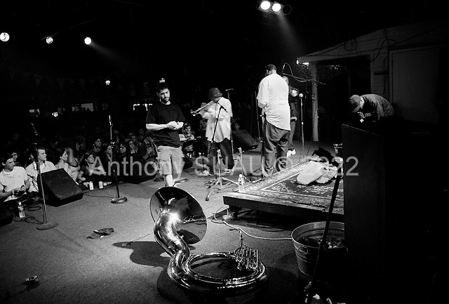 New Orleans, Louisiana.USA.February 25, 2006..Howlin' Wolf nightclub featuring Rebirth a brass funk band plays to a packed audience for Mardi Gras celebrations.
