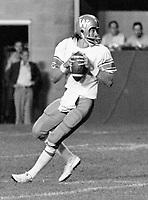 Ralph Dieter Brock Winnipeg Blue Bombers quarterback 1976. Copyright photograph Scott Grant/