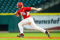 Codey Morehouse #5 of the Houston Cougars takes off for second base against the Kentucky Wildcats at Minute Maid Park on March 5, 2011 in Houston, Texas.  Photo by Brian Westerholt / Four Seam Images