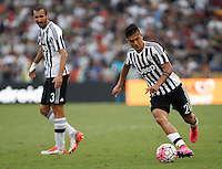 Calcio, Serie A: Roma vs Juventus. Roma, stadio Olimpico, 30 agosto 2015.<br /> Juventus' Paulo Dybala, right, in action past his teammate Giorgio Chiellini during the Italian Serie A football match between Roma and Juventus at Rome's Olympic stadium, 30 August 2015.<br /> UPDATE IMAGES PRESS/Isabella Bonotto