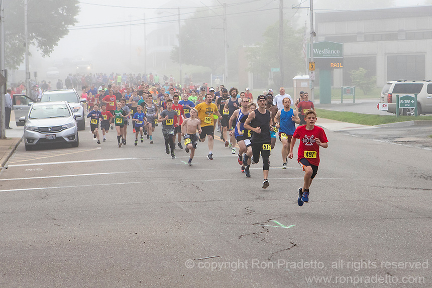 The 2019 Barnesville Rails to Trails 5K and Kids Fun Run, Barnesville, Ohio May 18, 2019.