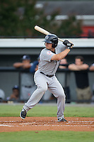 Nathan Mikolas (33) of the Pulaski Yankees at bat against the Burlington Royals at Burlington Athletic Park on August 6, 2015 in Burlington, North Carolina.  The Royals defeated the Yankees 1-0. (Brian Westerholt/Four Seam Images)