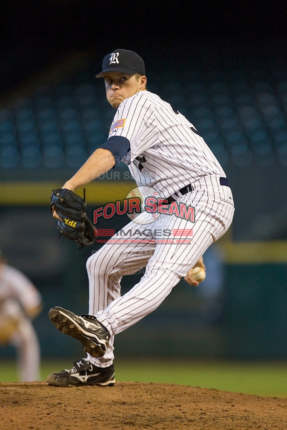 Relief pitcher Jordan Rogers #31 of the Rice Owls in action versus the Baylor Bears in the 2009 Houston College Classic at Minute Maid Park March 1, 2009 in Houston, TX.  The Owls defeated the Bears 8-3. (Photo by Brian Westerholt / Four Seam Images)
