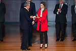 Queen Letizia during the delivery of the accreditations to the new ambassadors of the Marca España 2017 at Reina Sofia Museum in Madrid. March 14, 2017. (ALTERPHOTOS/Borja B.Hojas)