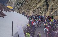 Elite chasing group over the Umbrailpass (Alt: 2502m)<br /> <br /> Stage 16: Rovett › Bormio (222km)<br /> 100th Giro d'Italia 2017
