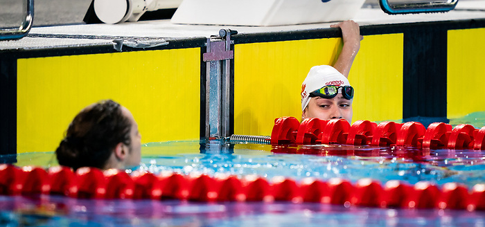 Krystal Shaw and Michelle Tovizi, Lima 2019 - Para Swimming // Paranatation.<br /> Krystal Shaw and Michelle Tovizi compete in women's 50m freestyle S7 // Krystal Shaw et Michelle Tovizi participe en 50 m libre féminin S7. 28/08/2019.