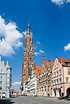Deutschland, Bayern, Niederbayern, Landshut: Altstadt mit Martinskirche | Germany, Bavaria, Lower Bavaria, Landshut: Old Town with church St. Martin