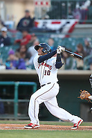 Roberto Pena #10 of the Lancaster JetHawks bats against the Lake Elsinore Storm at The Hanger on April 4, 2014 in Lancaster, California. Lake Elsinore defeated Lancaster, 6-1. (Larry Goren/Four Seam Images)