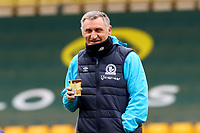 20th March 2021; Carrow Road, Norwich, Norfolk, England, English Football League Championship Football, Norwich versus Blackburn Rovers; Blackburn Rovers Manager Tony Mowbray seems in a happy mood at the score