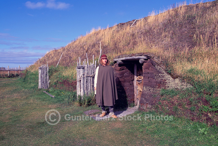 L'Anse aux Meadows National Historic Site, a UNESCO World Heritage Site, Newfoundland and Labrador, NL, Canada - Northern Peninsula, Northwest Region