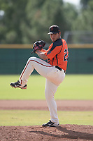San Francisco Giants relief pitcher Jesus Tina (22) delivers a pitch to the plate during an Instructional League game against the Kansas City Royals at the Giants Training Complex on October 17, 2017 in Scottsdale, Arizona. (Zachary Lucy/Four Seam Images)