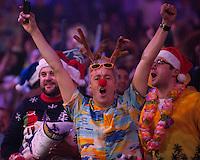 22.12.2014.  London, England.  William Hill PDC World Darts Championship.  Darts fans at the 2015 William Hill World Darts Championship.