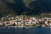 Coastal town of Đenovići, Bay of Kotor, Montenegro