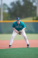 Brandon Troxler (68), from Rockwall, Texas, while playing for the Mariners during the Baseball Factory Pirate City Christmas Camp & Tournament on December 28, 2017 at Pirate City in Bradenton, Florida.  (Mike Janes/Four Seam Images)