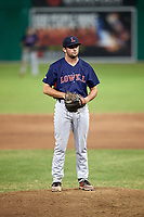Lowell Spinners relief pitcher Kevin Biondic (48) on the mound during a game against the Batavia Muckdogs on July 16, 2018 at Dwyer Stadium in Batavia, New York.  Lowell defeated Batavia 4-3.  (Mike Janes/Four Seam Images)