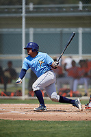 Tampa Bay Rays David Rodriguez (48) during a minor league Spring Training game against the Baltimore Orioles on March 29, 2017 at the Buck O'Neil Baseball Complex in Sarasota, Florida.  (Mike Janes/Four Seam Images)
