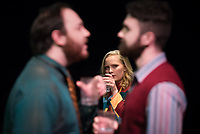 """UAA Theatre and Dance during a dress rehearsal in the Harper Studio for """"Betrayal,"""" written by Harold Pinter and directed by UAA theatre major Paitton Reid. The play stars Alexandra McCall, Ben Hagensieker, and Chase Knutson."""
