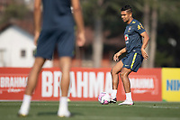 7th October 2020; Granja Comary, Teresopolis, Rio de Janeiro, Brazil; Qatar 2022 qualifiers; Casemiro of Brazil during training session