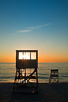 Lifeguard stand at Nauset Beach, Cape Cod National Seashore, Cape Cod, MA, USA